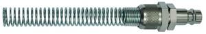 ID: 141542 - Nippel, NW 7,2 - NW 7,8, Stahl, für Schlauch 8x6, mit Knickschutz