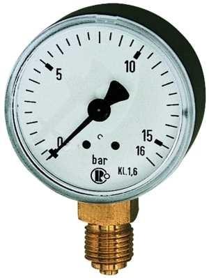 ID: 101784 - Standardmanometer, Stahlblechgeh., G 1/4 unten, 0-160,0 bar, Ø 50