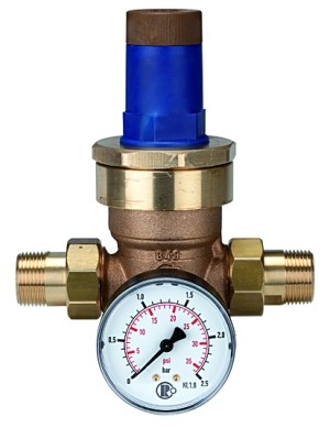 Druckregler für Wasser, inkl. Manometer, R 3/4, 0,