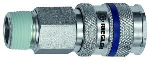 ID: 141512 - Schnellverschlusskupplung NW 7,8, Stahl, R 1/4 AG