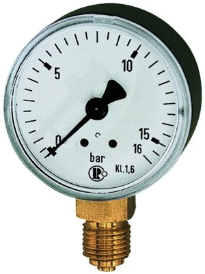 ID: 101684 - Standardmanometer, Kunststoffgeh., G 1/8 unten, 0 - 6,0 bar, Ø 40