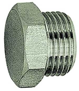 ID: 115678 - Verschlussschraube »value line«, G 1/4, SW 17, Messing vernickelt