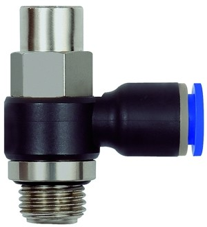 ID: 110042 - Drosselrückschlagventil »Blaue Serie«Abluftdros.G1/2 a. 10bar Ø10