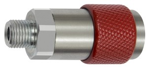 ID: 141850 - Unv. Dreh-Sicherheitskupplung NW 6, ISO 6150 C, G 3/8 AG, rot