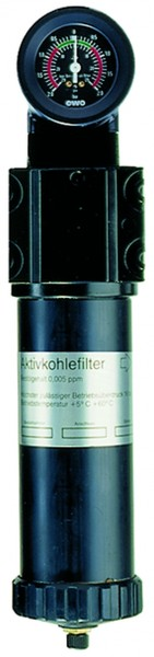 ID: 101577 - Aktivkohlefilter mit Differenzdruckmanometer, 0,005 mg/m³, G 3/8