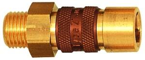 ID: 107630 - Unverwechselbare Schnellverschlusskupplung NW 5, G 1/4 AG, braun