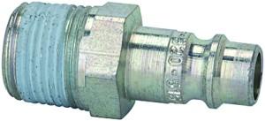 ID: 107378 - Nippel für Kuppl. NW 7,2-7,8, Stahl gehärtet/verz., R 3/8 AG PTFE
