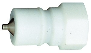 ID: 107720 - Verschlussnippel beidseitig absperrend, POM, G 3/8 IG, NW 7,5