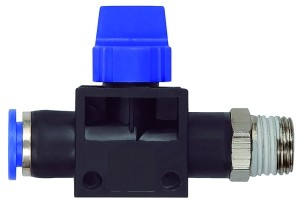 ID: 110146 - 3/2-Wegeventil »Blaue Serie«, Steckanschluss, R 1/4 a., S-G Ø 6mm