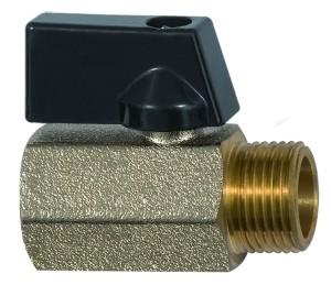 ID: 115731 - Mini-Kugelhahn »valve line«, MS vern., Drehgriff, G 3/8 IG/AG