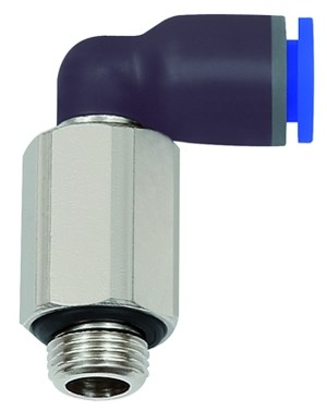 ID: 135642 - L-Steckverschraubung »Blaue Serie« lang, drehbar, G 3/8 a., Ø14mm