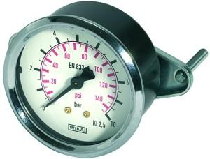 ID: 101911 - Standardmanometer Dreikantfrontring, G 1/8 hinten, -1 / 0,0 bar, Ø 40