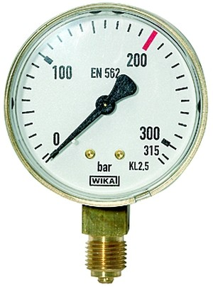 ID: 101290 - Manometer neutral, G 1/4 radial unten, Messber. 0 - 315 bar, Ø 63