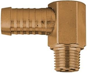 ID: 108005 - Winkel-Gewindetülle 90°, R 1/2 AG, Schlauchanschluss 19 mm