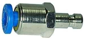ID: 107106 - Einstecknippel push-in 4 mm, für Kupplungen NW 2,7, Messing vern.
