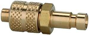ID: 107081 - Nippel für Kupplungen NW 2,7, Messing blank, für Schlauch 5x3