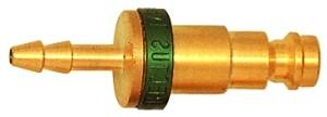 ID: 107641 - Unverwechselbare Einstecktülle NW 5, MS blank, Tülle LW 6, grün