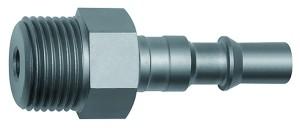 ID: 141642 - Nippel für Kupplungen NW 6, ISO 6150 C, Stahl, NPT 1/4 AG