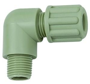 ID: 110872 - Winkel-Einschraubverschraubung, G 3/8 a., für Schlauch 4/6 mm, PP