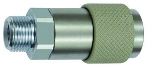 ID: 141876 - Unv. Dreh-Sicherheitskupplung NW 6, ISO 6150 C, G 3/8 AG, grau