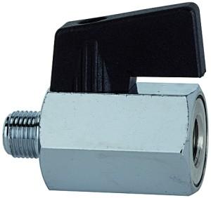 ID: 103345 - Mini-Kugelhahn, glatte Oberfläche, MS vern., G 3/8 IG/AG, DN 8