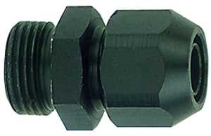 ID: 113770 - Einschraubverschraubung, Alu, für PVC-Gewebeschlauch 16x10, G 3/8