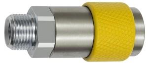 ID: 141863 - Unv. Dreh-Sicherheitskupplung NW 6, ISO 6150 C, G 3/8 AG, gelb