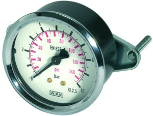 ID: 101939 - Standardmanometer Dreikantfrontring, G 1/4 hinten, 0 - 60,0 bar, Ø 63