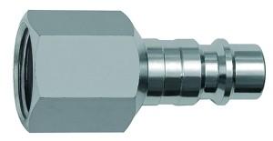 ID: 141674 - Nippel für Kupplungen NW 7,2, Stahl, NPT 1/4 IG