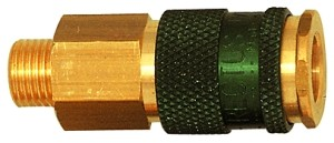 ID: 107662 - Unverwechselbare Schnellverschlusskupplung NW 7,8, G 3/8 AG, grün