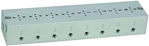 Reihengrundplatte 8-fach, M5 für Mini-Magnetventil