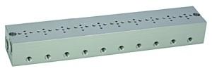 Reihengrundplatte 10-fach, M5 für Mini-Magnetventi