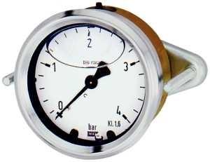 ID: 102278 - Glyzerinmanometer Dreikantfrontring, G 1/4 zentr., -1/+5,0 bar, Ø 63