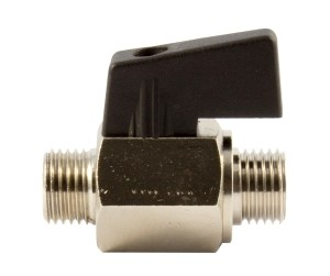 ID: 143656 - Mini-Kugelhahn, glatte Oberfläche, MS vern., G 1/4 AG, DN 8