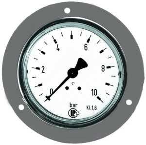ID: 101865 - Standardmanometer, Frontring verchr., G 1/4 hinten, 0-10,0 bar, Ø 50