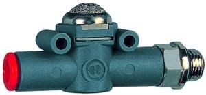 ID: 106780 - Schnellentlüftungsventil Schalld. G1/4 (Ausg.) - Schl.6 (Eing.)