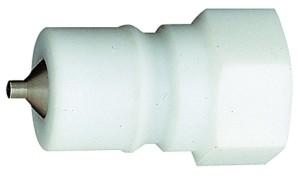 ID: 107721 - Verschlussnippel beidseitig absperrend, POM, G 1/2 IG, NW 11