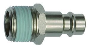 ID: 141547 - Nippel für NW 7,2 - NW 7,8, Stahl, R 3/8 AG, Gewindebeschichtung