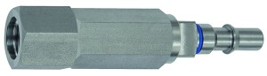 ID: 141919 - Unverwechselbarer Nippel NW 6, ISO 6150 C, RSV, G 1/4 IG, blau