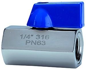 ID: 103489 - Mini-Kugelhahn, Edelstahl 1.4401, IG/IG, G 1/4, DN 7