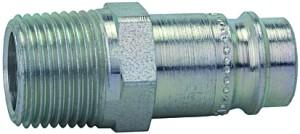 ID: 107473 - Nippel, NW 10, Stahl gehärtet/verz., Robustausführung, R 3/8 AG
