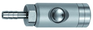 ID: 134061 - Druckknopf-Sicherheitskupplung NW 5,5, drehbar, Alu, Tülle LW 9