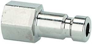 ID: 107105 - Nippel für Kupplungen NW 2,7, Messing vern., G 1/8 IG, SW 12