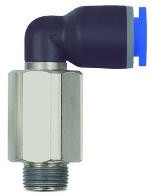 ID: 135645 - L-Steckverschraubung »Blaue Serie« lang, drehbar, R 1/2 a., Ø14mm