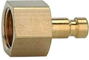 ID: 107086 - Nippel für Kupplungen NW 2,7, Messing blank, G 1/8 IG, SW 12