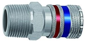ID: 107616 - Sicherheitskupplung NW 10, Stahl/Messing verzinkt, R 1/2 AG