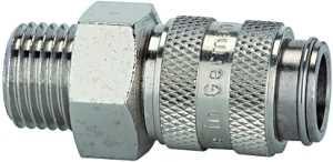 ID: 107160 - Schnellverschlusskupplung NW 5, Messing vernickelt, G 3/8 AG