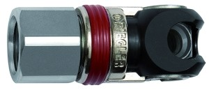 ID: 141624 - Schwenk-Sicherheitskupplung NW 6, ISO 6150 C, Stahl, G 1/2 IG