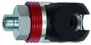 ID: 141717 - Schwenk-Sicherheitskupplung NW 11, ISO 6150 C, Stahl, NPT 3/8 AG