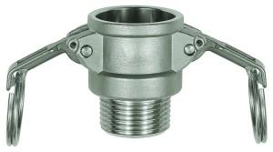 ID: 108108 - Kamlok-Schnellkupplungsdose mit AG, Typ B, ES 1.4401, R 1